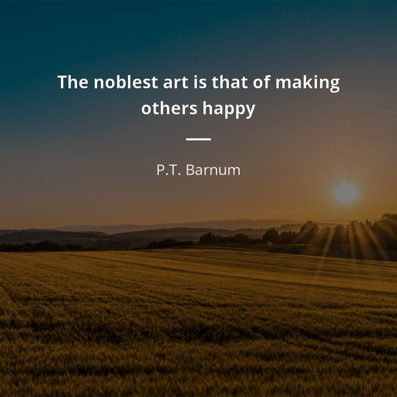 Phineas Taylor Barnum Frase The Noblest Art Is That Of